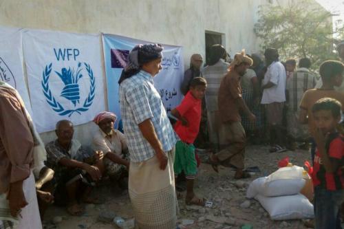جمعية التكافل الإنساني تدشن توزيع السلة الغذائية لشهر مارس بميفعة