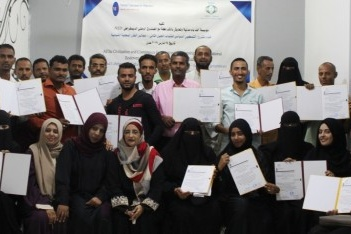 """مؤسسة """"ألف باء"""" تختتم الجيل الثاني من مشروع التمكين السياسي للشباب في عدن"""