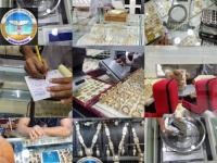 قسم المقاييس والمصوغات في هيئة المواصفات يقوم بالنزول الدوري لدى محلات الذهب والمجوهرات في عدن