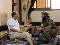 القائد كمال الحالمي يزور مدير قسم شرطة المنصورة بمنزله للاطمئنان عن صحته