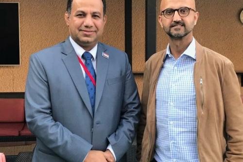 """ممثل الإدارة العامة للشؤون الخارجية للمجلس الانتقالي """" الشبحي"""" يلتقي المستشار السياسي للسفير البريطاني لدى اليمن"""