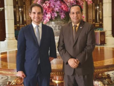 Al-Shabhi representative of Transitional Council Foreign Affairs meets Deputy Ambassador of Federal Republic of Germany to Yemen