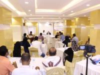 """ضمن مشروع تحسين آليات السلام..  """" ألف باء """" تنفذ لقاءً تقييميًا لمشاريع المبادرات في عدن وأبين"""