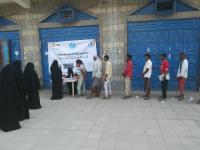 المؤسسة الطبية الميدانية FMF تواصل توزيع السلل الطارئة للنازحين في محافظة لحج