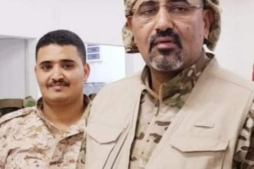 قيادة اللواء 11 صاعقة تعزي الرئيس الزُبيدي وشقيقه محمد في وفاة ابنهم مالك