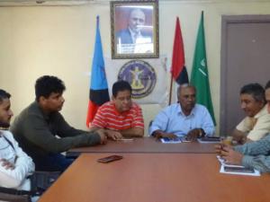 الدائرة الإعلامية في المجلس الانتقالي تواصل برنامج نزولاتها الميدانية للإدارات الإعلامية بالعاصمة عدن