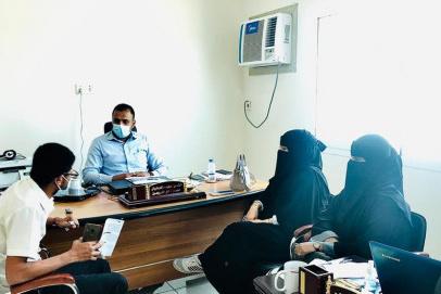 مناقشة أوجه التعاون المشترك بين نادي الخريجين ونقابة المهندسين اليمنيين فرع حضرموت بالمكلا