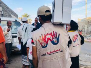 مؤسسة الفجر الشبابية بالتنسيق مع منظمة تجديد للتنمية توزع تمور رمضان