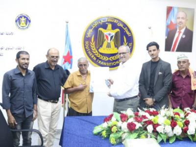 نائب الأمين العام للمجلس الانتقالي يُكرّم الكاتب والباحث الجنوبي حامد علي موسى