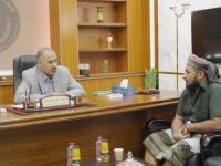 President Al-Zubaidi meets Sheikh Abdul Rahman Al-Subaihi