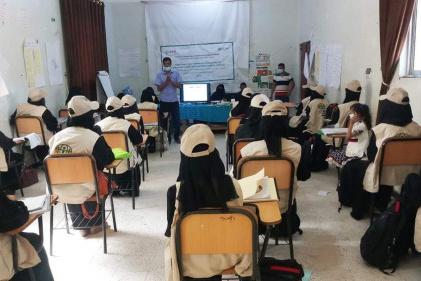 منظمة أدرا تختتم الدورة التنشيطية لمتطوعات المجتمع في مديرية الضالع