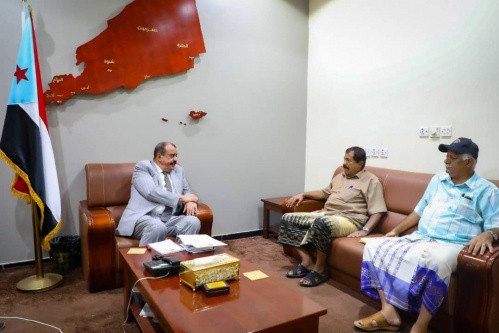 Major General Bin Brik meets with leadership of Supreme Military Commission of Southern Army and Security