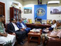 اللواء بن بريك يلتقي هيئة الوفاق الجنوبي برئاسة أحمد المرقشي